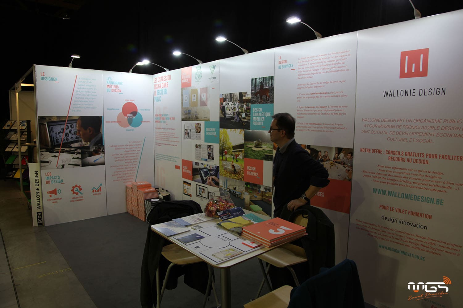 Conception du stand wallonie design par MGS