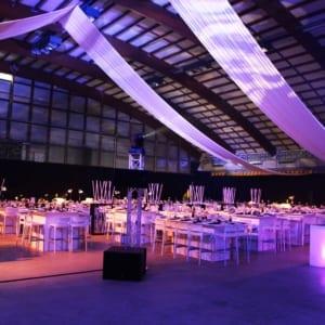 Drapé blanc MGS idéal pour décoration de plafond