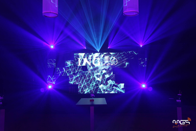 Effet écrans led fond de scène - ING staff party