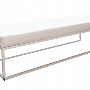 Banquette blanche 1,5m chez MGS