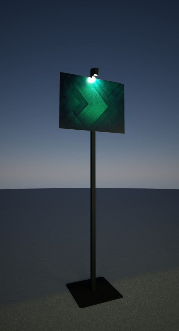 Perche lumineuse pour signalétique