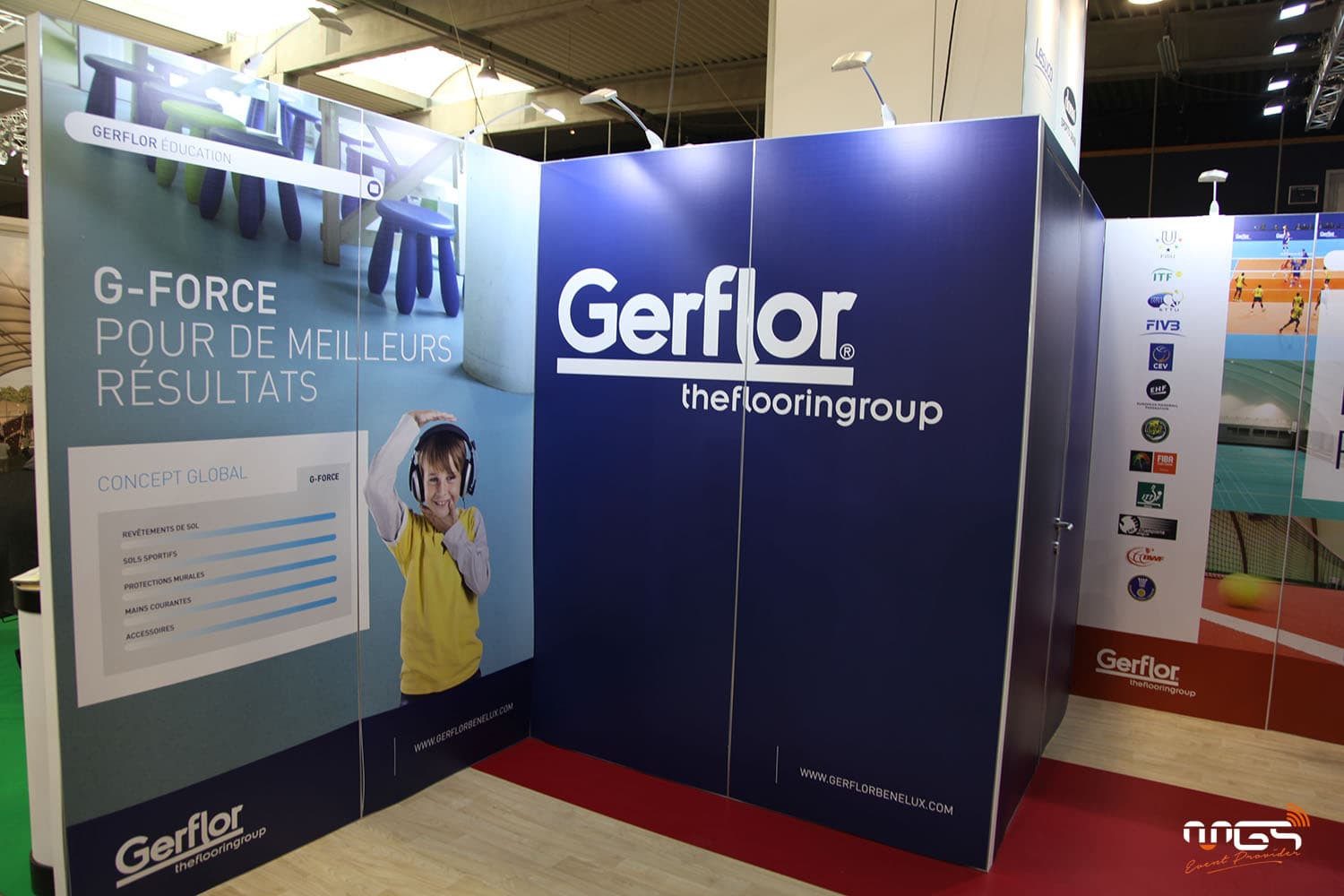Conception du stand Gerflor par MGS