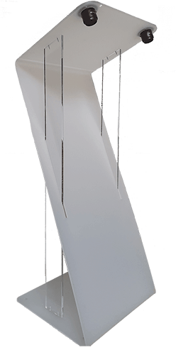 Pupitre blanc en plexi opalin