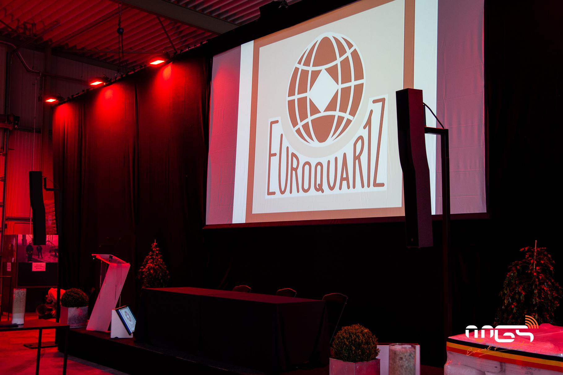Installation son et lumière MGS pour Euroquartz