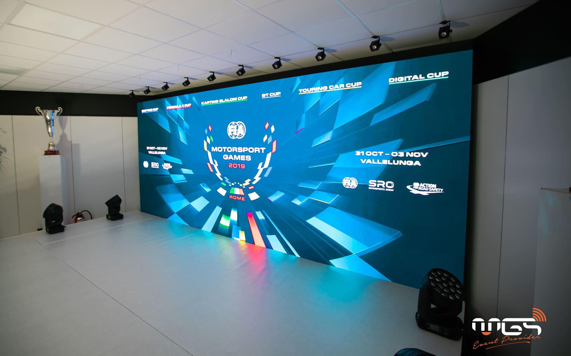 Aménagement, mise en lumière et sonorisation de la conférence de presse SRO par MGS lors des 24H de Spa.