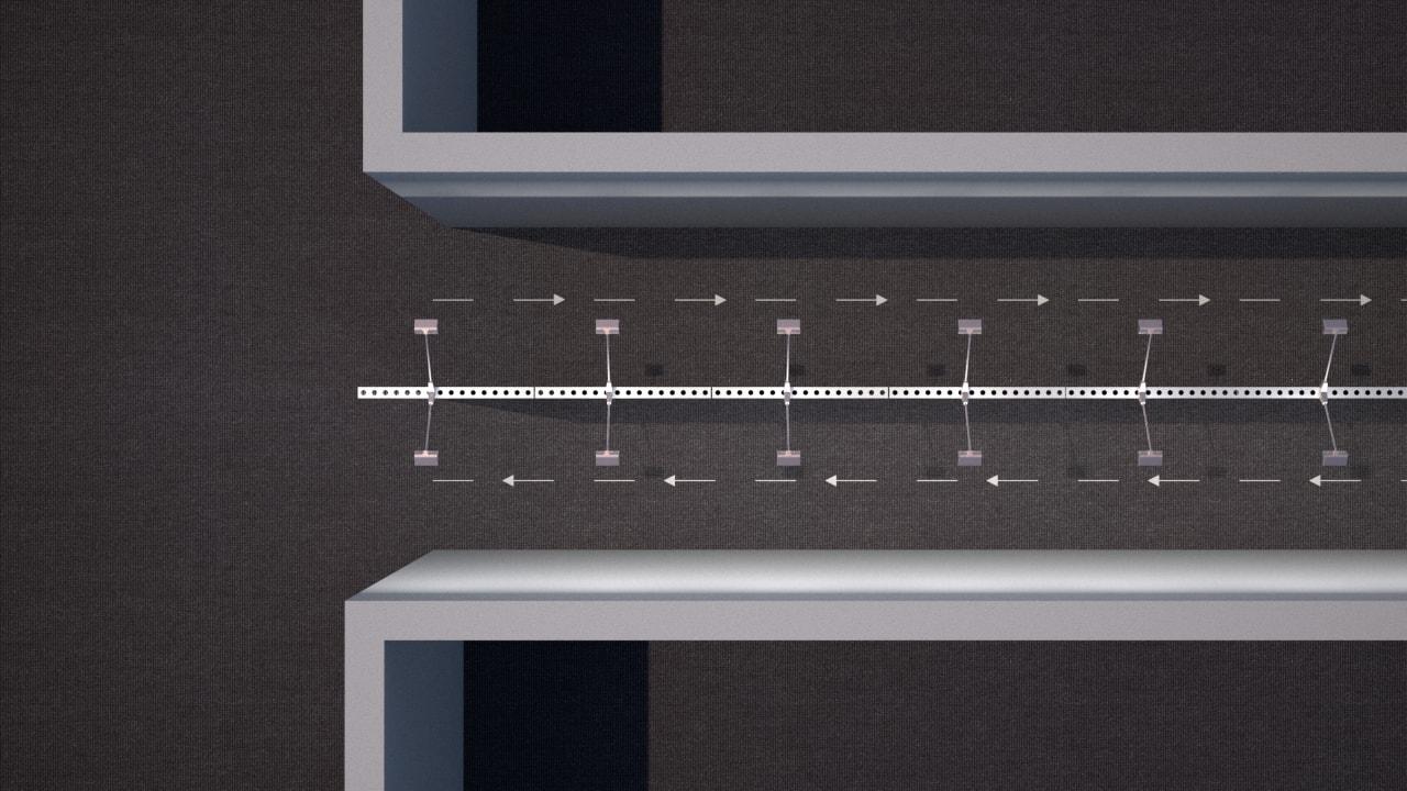 couloir séparé en deux